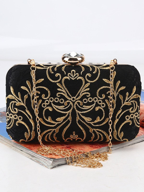 Beautiful Pattern Satin Evening/Party Handbags