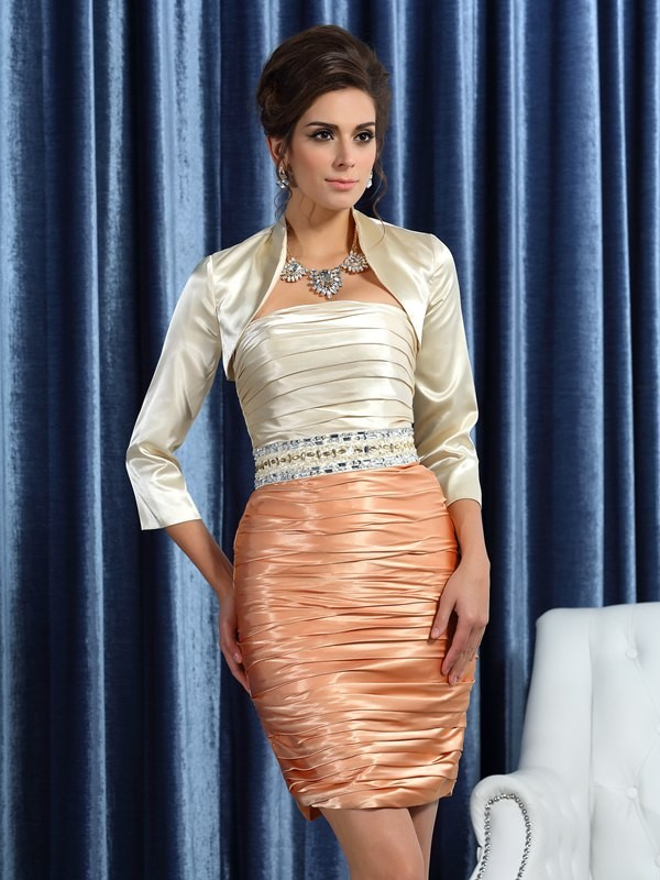 Silk like Satin 3/4 Sleeves Special Occasion Wrap