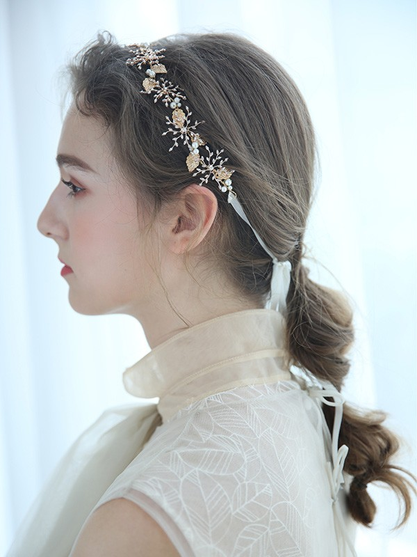 Elegant Imitation pearls Bridal Headpieces