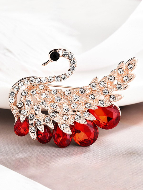 Gorgeous Alloy With Rhinestone Womens Brooch