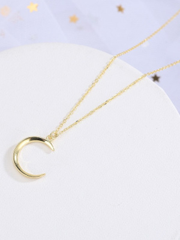Korean New S925 Silver With Moon Women's Necklaces