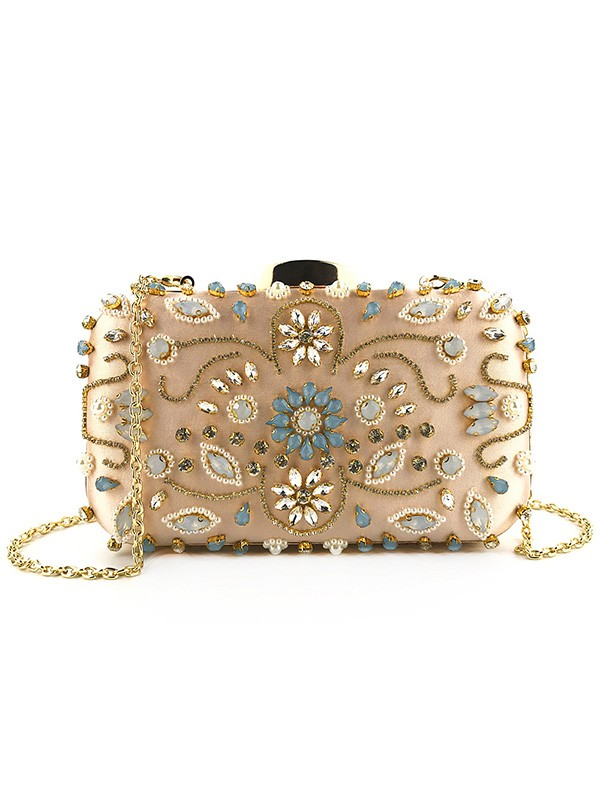 Elegant Rhinestone Evening/Party Handbags With Pearl