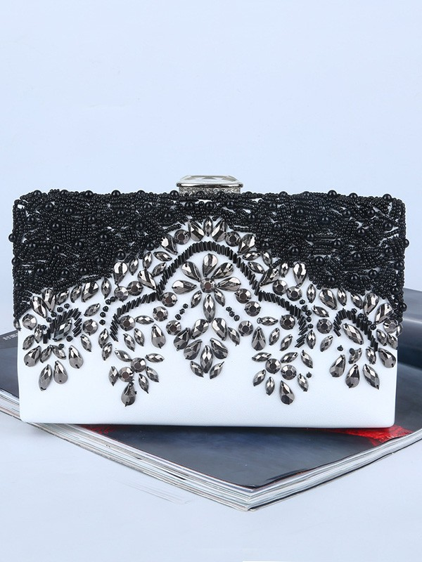 Graceful Rhinestone Evening/Party Handbags With Beading