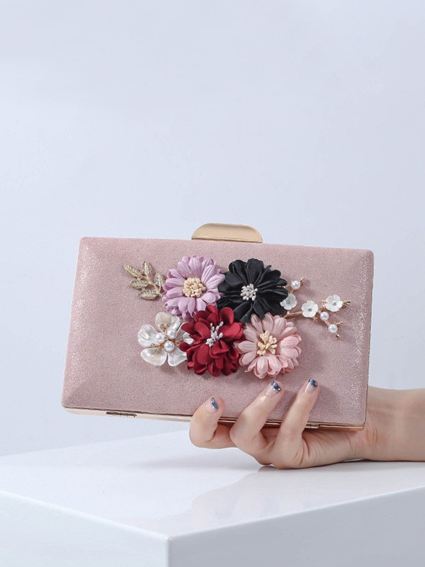 Banquet bag PU 3D Flower Clutch Bag Evening Party Wedding Tote