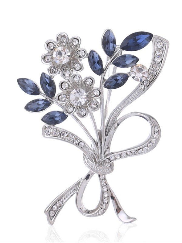 Graceful Alloy With Crystal Womens Brooch